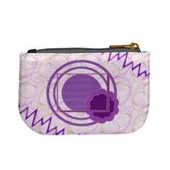 Purple Circle Coin Purse By Daniela   Mini Coin Purse   Uqtjpa9culh9   Www Artscow Com Back