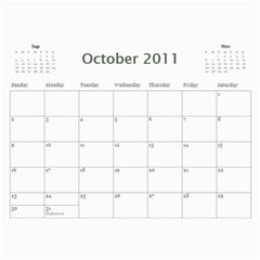 2011 Snowy s Calendar By Xinpei   Wall Calendar 11  X 8 5  (12 Months)   Fg078naua0mx   Www Artscow Com Oct 2011