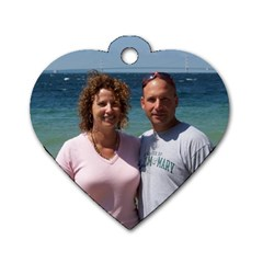 Sadie And Mike By Macrae Putnam   Dog Tag Heart (two Sides)   Cl0y8h5f66k1   Www Artscow Com Front
