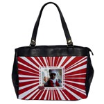 Red & white Rays office bag - Oversize Office Handbag