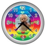 allaboutlove clock - Wall Clock (Silver)