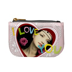 Love Theme Bag By Joely   Mini Coin Purse   Izuepkccp41t   Www Artscow Com Front