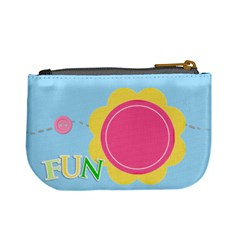 Fun Pastels Mini Coin Purse By Purplekiss   Mini Coin Purse   7k1fq7ozro7d   Www Artscow Com Back