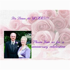 Anniversary Party By Erin Riley Carr   5  X 7  Photo Cards   Ctd8vad6henp   Www Artscow Com 7 x5 Photo Card - 8