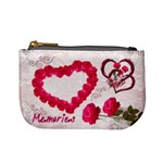 Love Pink Roses Valentine mini coin purse