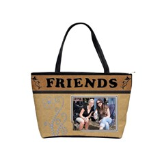 Food & Friends Classic Shoulder Handbag By Lil    Classic Shoulder Handbag   0o7yvwt1bdgp   Www Artscow Com Front