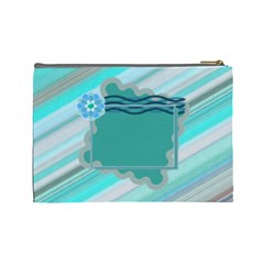 Blue Flower L Cosmetic Bag By Daniela   Cosmetic Bag (large)   Xmhtc84vamjo   Www Artscow Com Back
