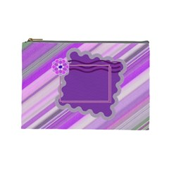 Purple Flower L Cosmetic Bag By Daniela   Cosmetic Bag (large)   26re5dpf4qka   Www Artscow Com Front