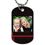 Love you Valentine tag - Dog Tag (One Side)