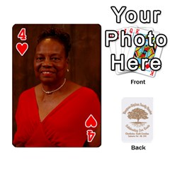 Family Reunion 5 5 By Tomika Holmes   Playing Cards 54 Designs   Fofxrre36krs   Www Artscow Com Front - Heart4