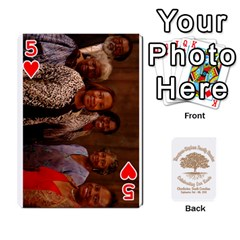 Family Reunion 5 5 By Tomika Holmes   Playing Cards 54 Designs   Fofxrre36krs   Www Artscow Com Front - Heart5