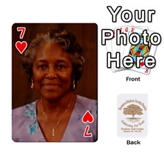 Family Reunion 5 5 By Tomika Holmes   Playing Cards 54 Designs   Fofxrre36krs   Www Artscow Com Front - Heart7