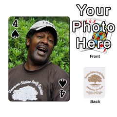 Family Reunion 5 5 By Tomika Holmes   Playing Cards 54 Designs   Fofxrre36krs   Www Artscow Com Front - Spade4
