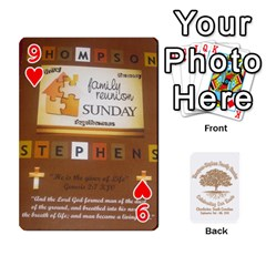 Family Reunion 5 5 By Tomika Holmes   Playing Cards 54 Designs   Fofxrre36krs   Www Artscow Com Front - Heart9