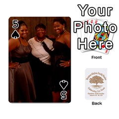 Family Reunion 5 5 By Tomika Holmes   Playing Cards 54 Designs   Fofxrre36krs   Www Artscow Com Front - Spade5