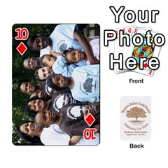 Family Reunion 5 5 By Tomika Holmes   Playing Cards 54 Designs   Fofxrre36krs   Www Artscow Com Front - Diamond10