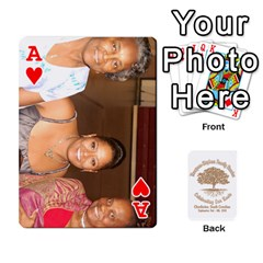 Ace 2010 Thompson Stephens Family Reunion  By Tomika Holmes   Playing Cards 54 Designs   Xbxgu8wdb09k   Www Artscow Com Front - HeartA
