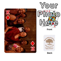 King 2010 Thompson Stephens Family Reunion  By Tomika Holmes   Playing Cards 54 Designs   Xbxgu8wdb09k   Www Artscow Com Front - DiamondK