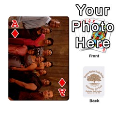 Ace 2010 Thompson Stephens Family Reunion  By Tomika Holmes   Playing Cards 54 Designs   Xbxgu8wdb09k   Www Artscow Com Front - DiamondA