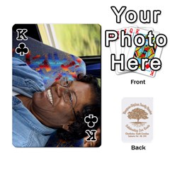 King 2010 Thompson Stephens Family Reunion  By Tomika Holmes   Playing Cards 54 Designs   Xbxgu8wdb09k   Www Artscow Com Front - ClubK