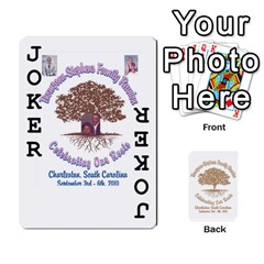 2010 Thompson Stephens Family Reunion  By Tomika Holmes   Playing Cards 54 Designs   Xbxgu8wdb09k   Www Artscow Com Front - Joker1