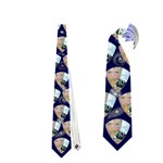 Starburst Curvy Triangle Fathers Day Tie single sided - Necktie (One Side)