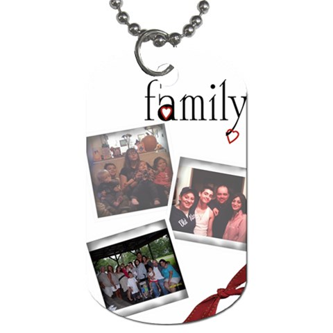 Toni Family Dog Tag By Tonilynn   Dog Tag (one Side)   Tijz66acfl1e   Www Artscow Com Front