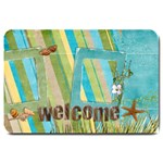 Welcome/Beach-Large Doormat
