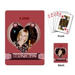 i love you cards - Playing Cards Single Design