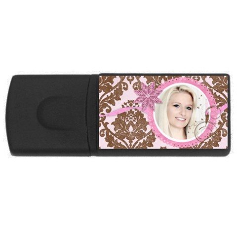 Pink Chocolate Usb Flash Drive By Danielle Christiansen   Usb Flash Drive Rectangular (4 Gb)   9ujtra55j3ff   Www Artscow Com Front