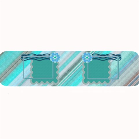Blue Flower Bar Mat By Daniela   Large Bar Mat   M2rblrxjn3if   Www Artscow Com 34 x9.03 Bar Mat - 1