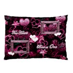 Two Hearts Beat as One Pink Purple Pillow Case