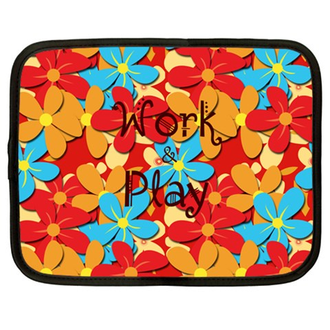 Work & Play By Charlotte Young   Netbook Case (large)   6tpe5w6714sd   Www Artscow Com Front