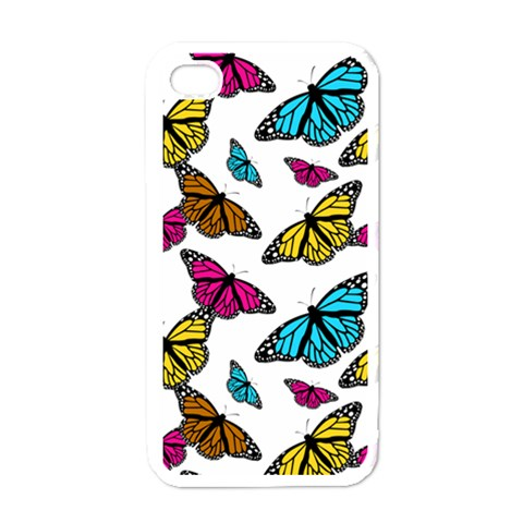 Butterfly Phone Cover By Charlotte Young   Apple Iphone 4 Case (white)   Ugg0jreb5dor   Www Artscow Com Front