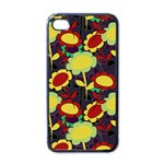 Another Flower Phone Case - Apple iPhone 4 Case (Black)