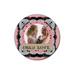 love - Rubber Coaster (Round)