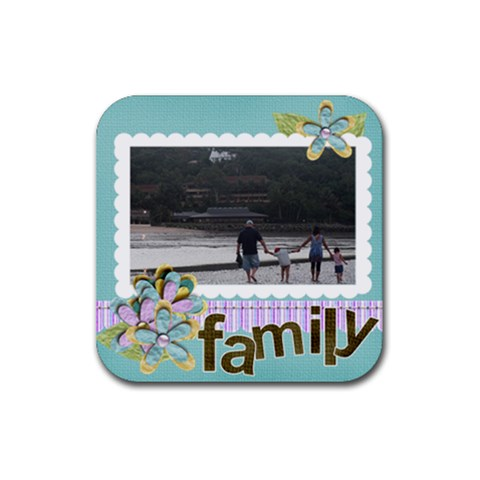 Rubber Square Coaster (4 Pack)  Family By Jennyl   Rubber Square Coaster (4 Pack)   5pnwgohcoo7d   Www Artscow Com Front