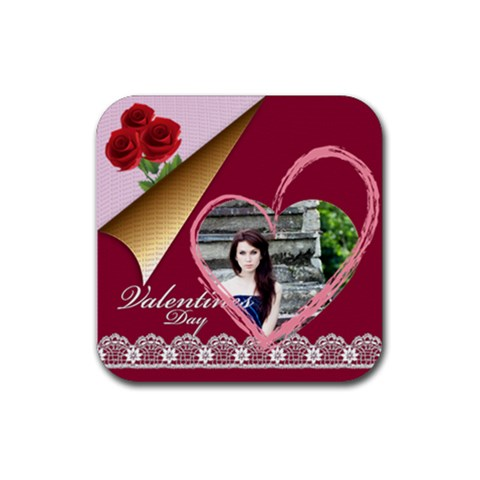 I Love You Forever By Joely   Rubber Coaster (square)   Eis4wqpqul04   Www Artscow Com Front