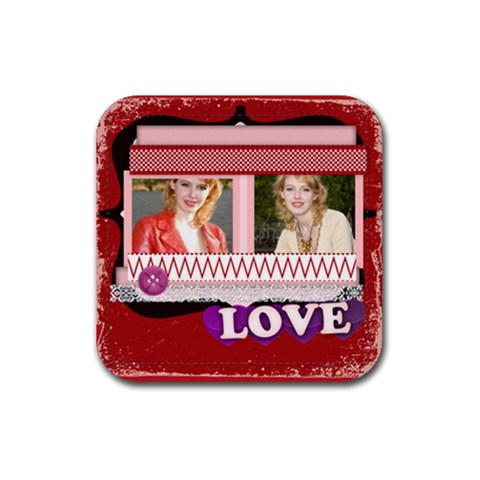 I Love You Forever By Joely   Rubber Coaster (square)   J8ktjqzwgwyb   Www Artscow Com Front