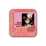 I love you forever - Rubber Coaster (Square)