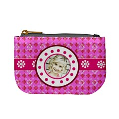 Pink & Lime Coin Purse By Danielle Christiansen   Mini Coin Purse   Oc9ymfkcwsrz   Www Artscow Com Front