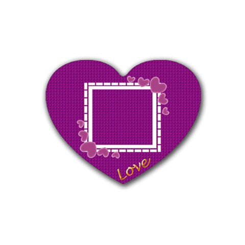 Love Coaster By Daniela   Rubber Coaster (heart)   8jzqbi4co1se   Www Artscow Com Front