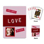 be mine valentine playing cards - Playing Cards Single Design