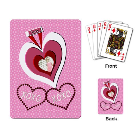 Love Xoxo Cards By Danielle Christiansen   Playing Cards Single Design   R3kgak1mlzsi   Www Artscow Com Back