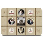 Family, Love, Kindess, Wisdom Large Doormat