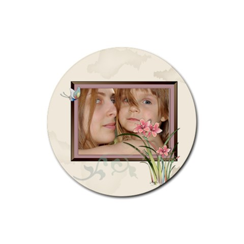 Kids By Wood Johnson   Rubber Coaster (round)   Berdiio9v6qp   Www Artscow Com Front