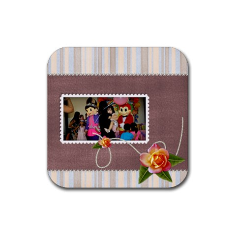 Coaster Simply You By Angel   Rubber Coaster (square)   F6qe4my7n4ub   Www Artscow Com Front