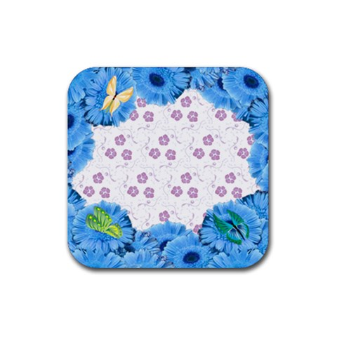 Coaster Flowers And Butterflies 2 By Galya   Rubber Coaster (square)   Xb0jcq8gzxp9   Www Artscow Com Front