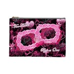 Two Hearts Beat as One Large Pink Cosmetic Bag - Cosmetic Bag (Large)