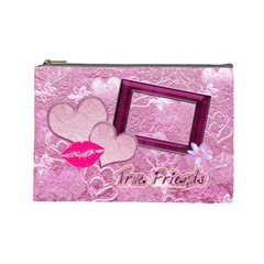 True Friends Lav Large Cosmetic Bag By Ellan   Cosmetic Bag (large)   Mdpvl484b99p   Www Artscow Com Front